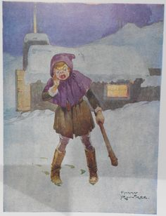 Crying Wolf - Colour Plate by Harry Rountree, c. 1935