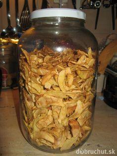 Sušené jablká so škoricou Food Humor, Pickles, Healthy Snacks, Cereal, Food And Drink, Health Fitness, Homemade, Baking, Breakfast