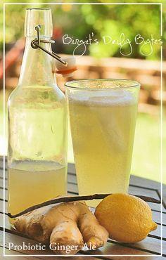 Homemade Probiotic Ginger Ale
