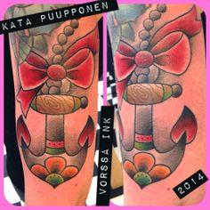 https://www.facebook.com/VorssaInk, http://tattoosbykata.blogspot.fi, #tattoo #tatuointi #katapuupponen #vorssaink #forssa #finland #traditionaltattoo #suomi #oldschool #anchor