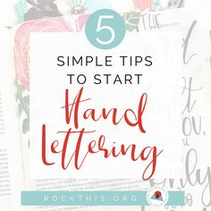 5 Simple Tips to Start Hand Lettering