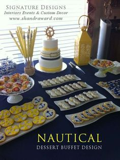Nautical Baby Shower Party Ideas | Photo 2 of 8 | CATCH MY PARTY