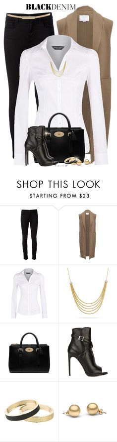 """Black Denim"" by houston555-396 ❤ liked on Polyvore featuring J Brand, Alexander Wang, Dorothy Perkins, Marco Bicego, Mulberry, Yves Saint Laurent, Betsey Johnson, Topshop, women's clothing and women's fashion"