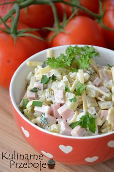 Sałatka szwajcarska Polish Recipes, Avocado Salad, Salad Recipes, Potato Salad, Food To Make, Side Dishes, Salads, Food And Drink, Cooking Recipes