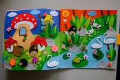 Childrens Quiet Book, Busy Book, Eco friendly, educational 12 pages. Children are constantly looking, listening, and touching things in their surroundings. They love colors, shapes, textures, and gadgets of all sorts and sizes. A quiet book contains all of these elements-and so much more! What