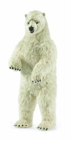 The Well Appointed House Hansa Toys Life Sized Standing Stuffed Polar Bear Polar Bear Fur, Polar Bears Live, Bear Habitat, Giant Plush, Giant Stuffed Animals, We Bear, Plush Animals, Arctic Animals, The Incredibles