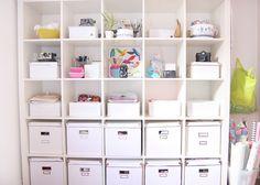 craft room shelf organization