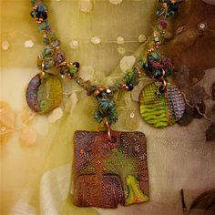Sharilyn Miller: New Workshop at Monica's: Fiber-Wire Mixed Media Necklace
