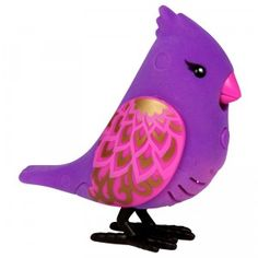 These toy birds whistle, sing, and repeat what you say.