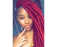 Red faux locs Yarn Faux Locs, Red Faux Locs, Faux Locs Hairstyles, African Hairstyles, Cool Hairstyles, Faux Locs Goddess, Red Box Braids, Best Braid Styles, Faux Locs Styles