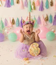 Catch a unicorn in action - Birthday Cake Smash Ideas Worth Stealing for Your Little One - Photos