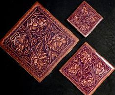 must have for new house!!  carved leather ceramic tiles from Lil Red Roan