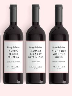 New Mom Gift Wine Labels (From 4 Labels) Mommy Milestones™ Baby Shower Gift Wine Fun New Mom Gift New Mommy Mother's Day Goodbye Baby, Baby Kicking, Prego, Gifts For New Moms, Mom To Be Gifts, New Baby Gifts, Baby Milestones, Wine Gifts, Mother Gifts