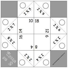 Additionner les doubles fiche de calcul imprimer gs cp for Table multiplication ludique