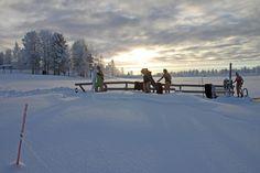 Baignade dans la glace à Pello, Laponie Occidentale