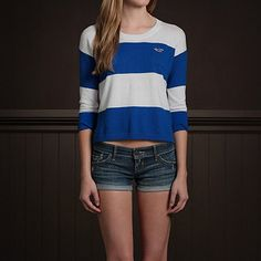 Moonlight Beach Sweater Hollister Co. Blue Stripe $34.50