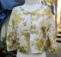 Cropped Vintage Jacket circa 1950s Asian by MyVintageClothingCo