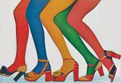 Leggings! Shoes! Color! 1970s.