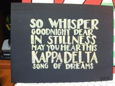 Kappa Delta Sorority Quote Canvas via Etsy