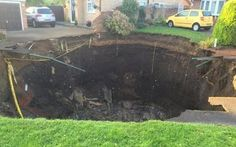Residents living in Fontmell Close in St Albans wanting to improve their homes with a super-basement woke to find most of the hard work done after a massive sinkhole opened up near several homes. It is not known what caused the hole to appear.