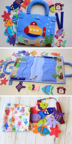 Quiet book magnetic fishing Busy book Felt book Montessori toys – Famous Last Words Quiet Toddler Activities, Book Activities, Summer Activities, Diy Quiet Books, Felt Quiet Books, Book Crafts, Felt Crafts, Diy For Kids, Gifts For Kids