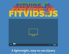 50 Useful Responsive Web Design Tools For Designers #FitVid.Js