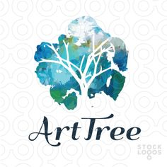 4 Ways to Use Nature Logo Design for Your Brand Logo Inspiration, Typography Design, Branding Design, Negative Space Logos, Watercolor Logo, Watercolor Design, Tree Logos, Logo Color, Texture Design