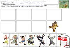 Le petit bonhomme de pain d'épice - des images séquentielles de la course des personnages Man Projects, Gingerbread Man, Luigi, Kids Learning, Activities For Kids, Album, Comics, Discipline Children, Icecream