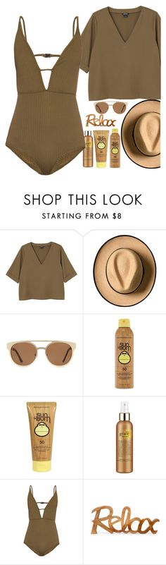 """""""Swimwear #1"""" by galpaian-elisa ❤ liked on Polyvore featuring Monki, Forever 21, Sun Bum, philosophy and Zimmermann"""