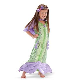 Look at this #zulilyfind! Green Mermaid Dress-Up Set - Toddler & Kids #zulilyfinds