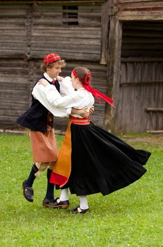 This young couple are wearing parish costumes from Orsa in Dalarna.