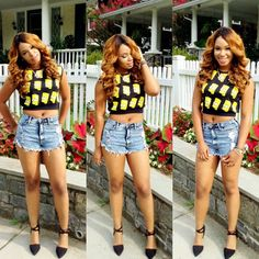 Beauty Blogger @beautbygenecia in our #Bart #Crop #Tank from #Supercolour available now at www.shopsupercolour.com