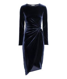 Draped dress Draped dress: Long-sleeved dress in soft fabric with a knot detail at the waist and asymmetric wrapover skirt. Drape Gowns, Draped Dress, Dress Up, Bodycon Dress, Dress Long, Knot Dress, Dress Casual, Party Mode, New Years Eve Dresses