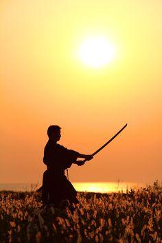 "♂ Japanese martial art sword sunset ""Bushido -武士道-"" by Tiffa #martial art"
