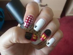 #Disney nails . #Mickey Mouse