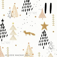 If only foxes were glittery, maybe just at Christmas time...that would be nice.   x