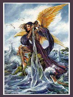 Archangel Gabriel Print by Briar