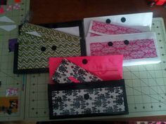 Duck tape clutch and matching wallets $10 @  www.facebook.com/lissasdesign