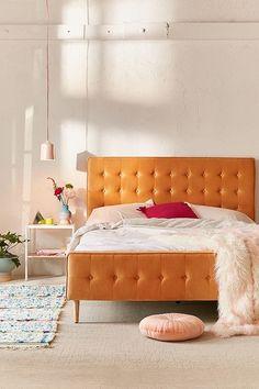 Layla Velvet Upholstered Bed Frame