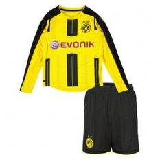 Dortmund Home 16-17 Season Yellow LS Kids Soccer Kit [H899]