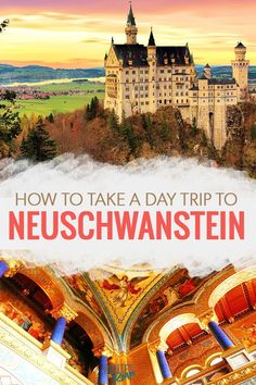 Neuschwanstein Castle in Bavaria is a fairytale castle dreamed up by King Ludwig II and it's only a short day trip away from Munich, Germany. We've got all the details on how to get tickets, how to get there, and everything else you need to do there! Cities In Germany, Visit Germany, Germany Travel, Munich Germany, Bavaria Germany, Cool Places To Visit, Places To Travel, Travel Destinations, Holiday Destinations