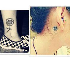 little sunflower tattoo designs