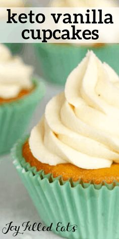 Indulge in these Almond Flour Cupcakes to cure your sweet tooth. They have the perfect texture, flavor, & have a rich & creamy buttercream frosting! Almond Flour Cakes, Baking With Almond Flour, Almond Flour Recipes, Low Carb Cupcakes, Diabetic Cupcakes, Healthy Low Carb Recipes, Low Carb Dinner Recipes, Keto Recipes, Dessert Recipes