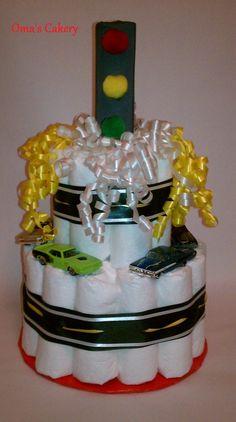 Hot Wheels Diaper Cake