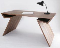 The Xbein Desk Table by Florian Kallus Modern Office Desk, Office Table, Home Office Desks, Table Desk, Office Furniture, Furniture Decor, Furniture Design, Smart Office, Geometric Furniture