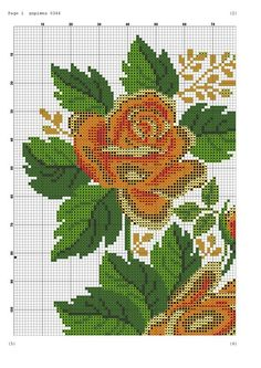 "Photo from album ""Вышивка схемы"" on Yandex. Cross Stitch Rose, Cross Stitch Flowers, Cross Stitch Geometric, Plastic Canvas Crafts, Bargello, Counted Cross Stitch Patterns, Filet Crochet, Needlepoint, Hand Embroidery"