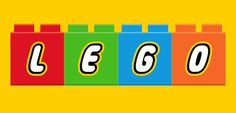 A colourful printable alphabet of lego blocks in red, blue, green, orange, purple and pink. Each letter is available in all six colours.