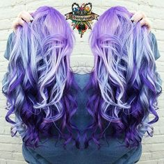 Eye-popping Purple Hair Color design Purple hair colors by @hairbykoh instagram.com/hotonbeauty
