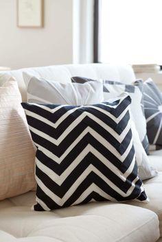 "Sarah Foote — Zigzag Pillow - 16"""