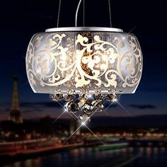 Woodland Drive Collection Crystal Decorated Pendant Light